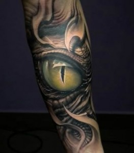 snake_eyes_tattoo_on_arm