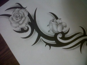 tribal_with_roses_tattoo_design_by_tattoosuzette-d4q00nk